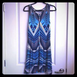 Tart Collections Blue Geometric Dress Medium